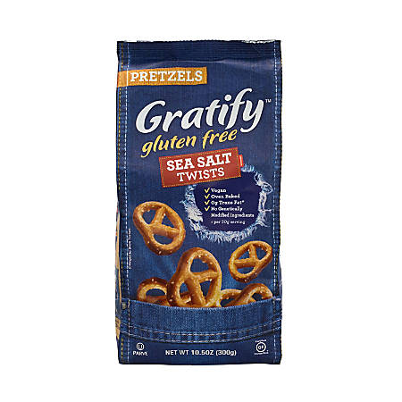 Gratify Gluten-Free Sea Salt Pretzel Twists, 10.5 oz, 6 Pack