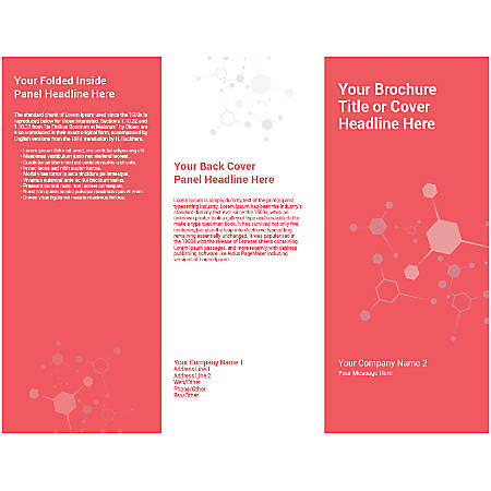 Customizable Trifold Brochure, Chemical Bond