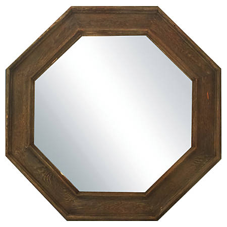 "PTM Images Framed Mirror, Octagonal, 35 1/2""H x 35 1/2""W, Charcoal"
