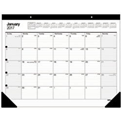 office depot brand large monthly desk pad calendar 30 recycled 22