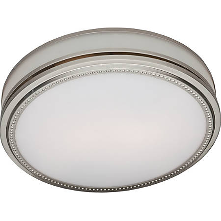 Hunter Fan Riazzi Bathroom Fan And Light With Brushed Nickel Finish 83001 By Office Depot