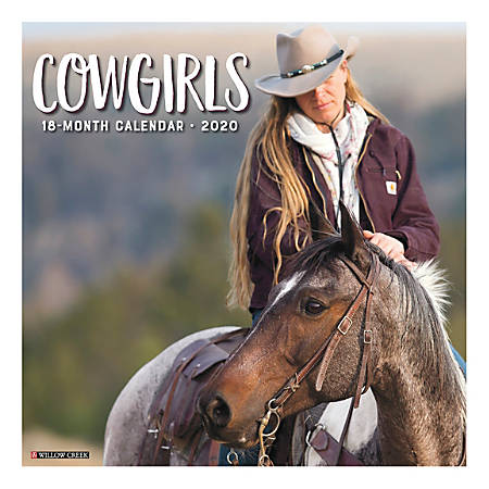 """Willow Creek Press Scenic Monthly Wall Calendar, 12"""" x 12"""", Cowgirls, January To December 2020"""