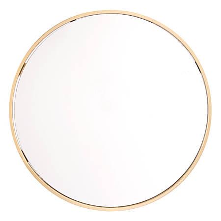 """Zuo Modern Eye Round Mirror, 24 1/4""""H x 24 1/4""""W x 1""""D, Gold"""