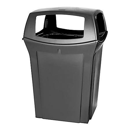 Rubbermaid® Ranger Fire-Safe Square Structural Foam Container, 45 Gallons, Black