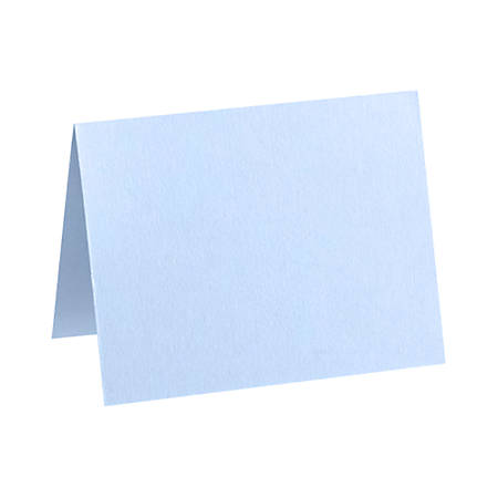 "LUX Folded Cards, A2, 4 1/4"" x 5 1/2"", Baby Blue, Pack Of 250"