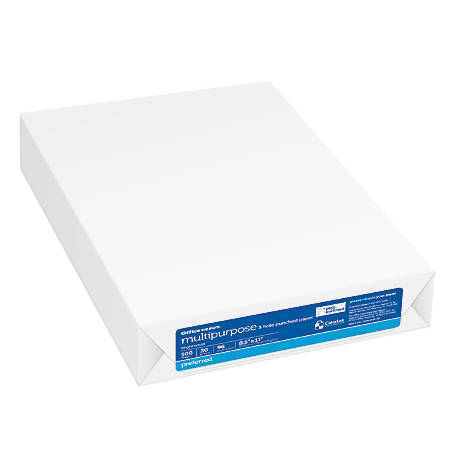 Office Depot® Brand Multipurpose Paper, 3-Hole Punched, Letter Size, 96 Brightness, 20 Lb, Ream Of 500 Sheets