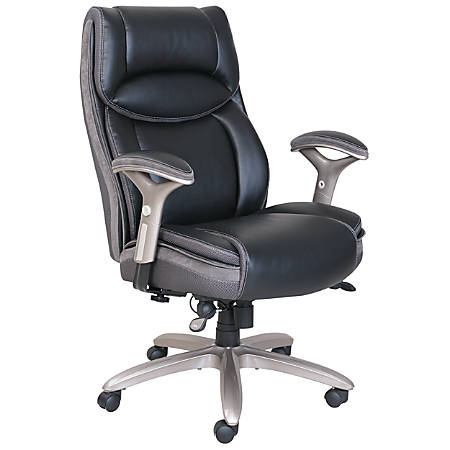 Serta Smart Layers Jennings Super Task And Tall Chair Black Slate