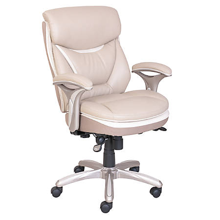 Serta Smart Layers Verona Manager Chair Taupe Champagne