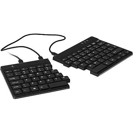 R-Go Spilt Ergonomic Wired Keyboard, Black