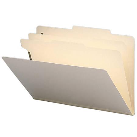 Smead® Manila Classification Folders, 2 Dividers, Legal Size, Box Of 10