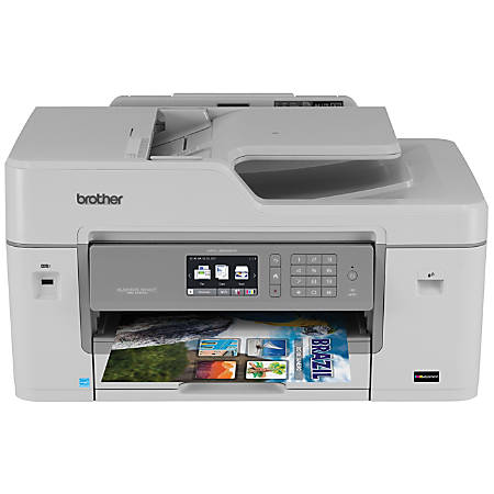 Brother MFC-J6535DW Business Smart™ Pro Wireless Color Inkjet All-In-One Printer, Copier, Scanner, Fax, With INKvestment Cartridges