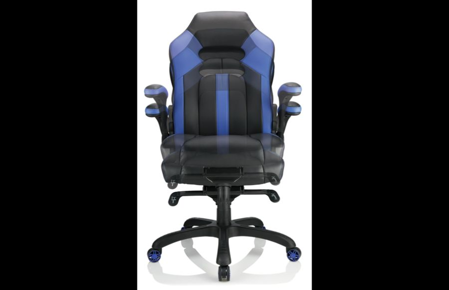Realspace High Back Gaming Chair BlueBlack - Office Depot