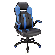 Realspace High Back Gaming Chair BlueBlack