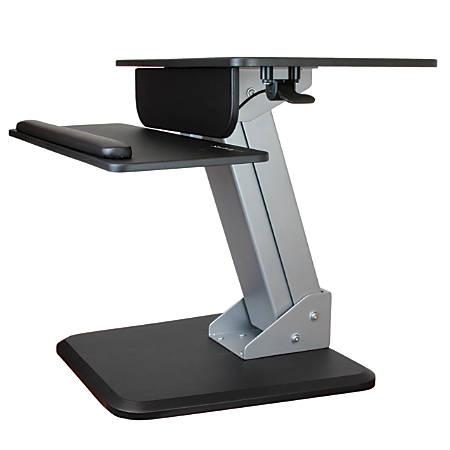 "StarTech.com Sit-to-Stand Workstation, 6 5/16""H x 26 13/16""W x 33 3/4""D, Black/Silver"
