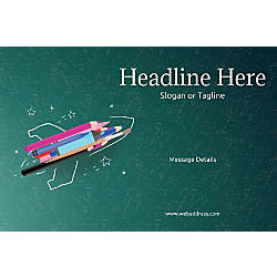 Adhesive Sign Creative Rocket Horizontal