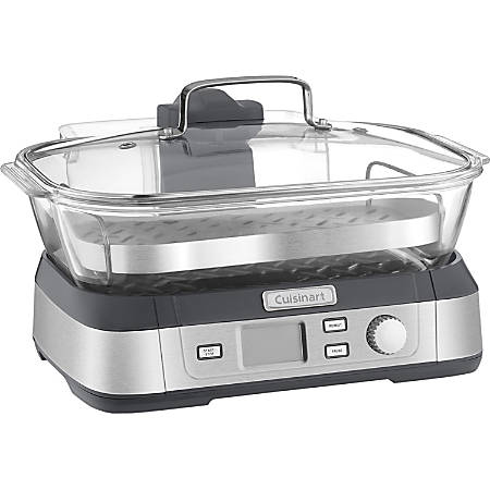 Cuisinart CookFresh Digital Glass Steamer - 1.32 gal - Stainless Steel