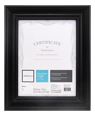 Realspace Photodocument Frame Stephan 8 12 X 11 Black Office Depot