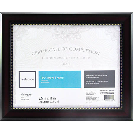 Realspace Photodocument Frame Harrison 8 12 X 11 Mahogany Office Depot