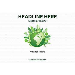 Customizable Window Decal Horizontal Green World