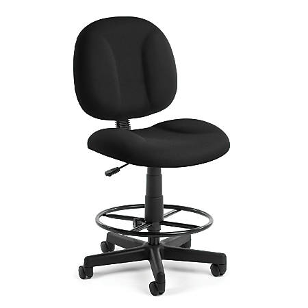 OFM Comfort Series Superchair Task Chair With Drafting Kit, Black/Black