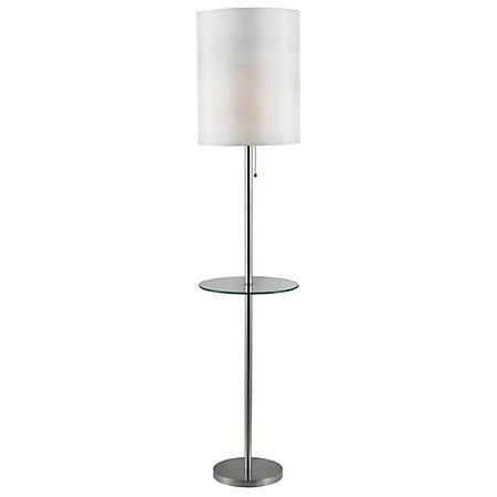 """Kenroy Exhibit Floor Lamp, 65""""H, Silver"""