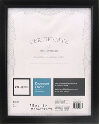 Realspace Photodocument Frame Cornell 8 12 X 11 Black Office Depot
