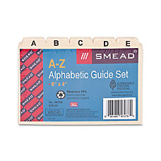Smead Alphabetic Indexed Card Guide Sets