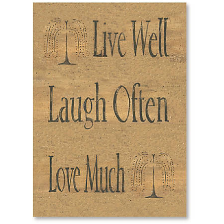 "Viabella Birthday Greeting Card With Envelope, Live Well, 5"" x 7"""