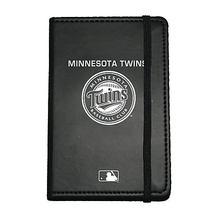 "Markings by C.R. Gibson® Leatherette Journal, 3 5/8"" x 5 5/8"", Minnesota Twins"