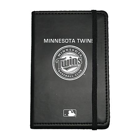 "Markings by C.R. Gibson® Leatherette Journal, 3 5/8"" x 5 5/8"", Minnesota Twins"