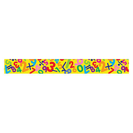 "TREND Terrific Trimmer® Borders, 2 1/4"" x 39"", Math Fun, Pre-K - Grade 6, Pack Of 12"