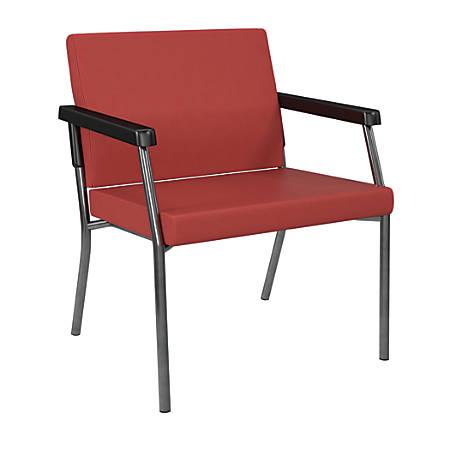 Office Star® Worksmart® Bariatric Big & Tall Guest Chair, Lipstick/Gunmetal Gray