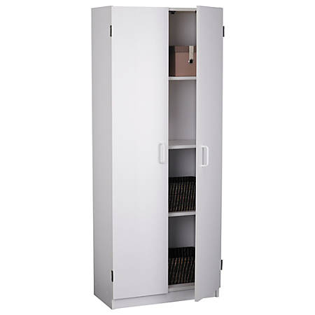 Ameriwood 2 Door Storage Cabinet White By Office Depot Officemax