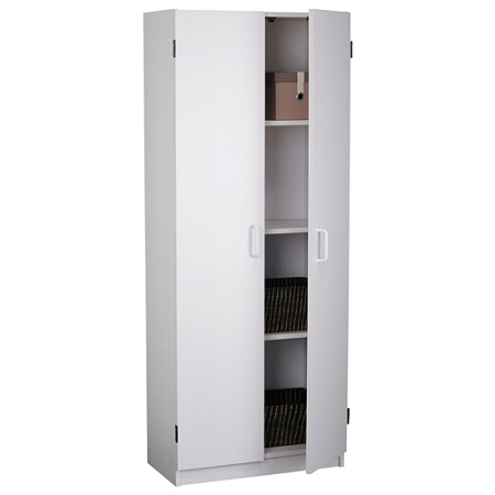 Ameriwood Home 2 Door Storage Cabinet White By Office Depot Officemax