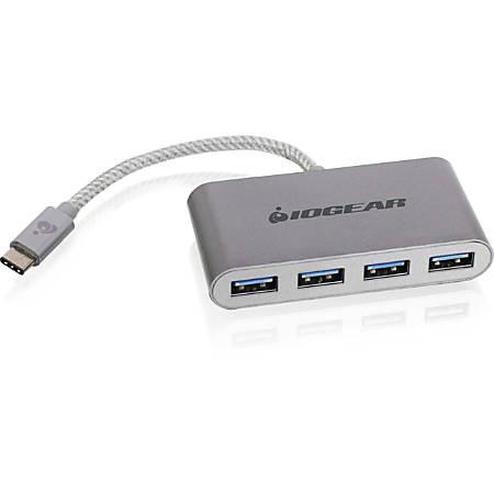 IOGEAR HUB-C - USB-C to 4-port USB-A Hub - USB Type C - External - 4 USB Port(s) - 4 USB 3.0 Port(s) - PC, Mac