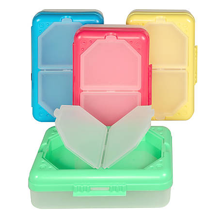 "C-Line® Plastic Storage Box, 8-1/4""H x 5-7/16""W x 2-7/16""D, Assorted Colors"