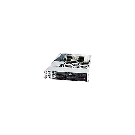 Supermicro 2042G-TRF Barebone System - 2U Rack-mountable - AMD - Socket G34 LGA-1944 - 2 x Processor Support - Black - 512 GB DDR3 SDRAM DDR3-1333/PC3-10600 Maximum RAM Support - Serial ATA RAID Supported Controller - Matrox G200 16 MB Integrated