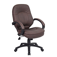 Boss Office Products LeatherPlus Vinyl Mid