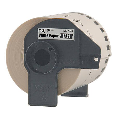 """Brother DK-2243 Continuous-Feed Labels, 4"""" x 6"""", Roll Of 100'"""