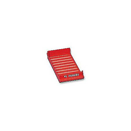 MMF Industries™ Porta-Count® System Coin Trays, Pennies-$5.00, Red