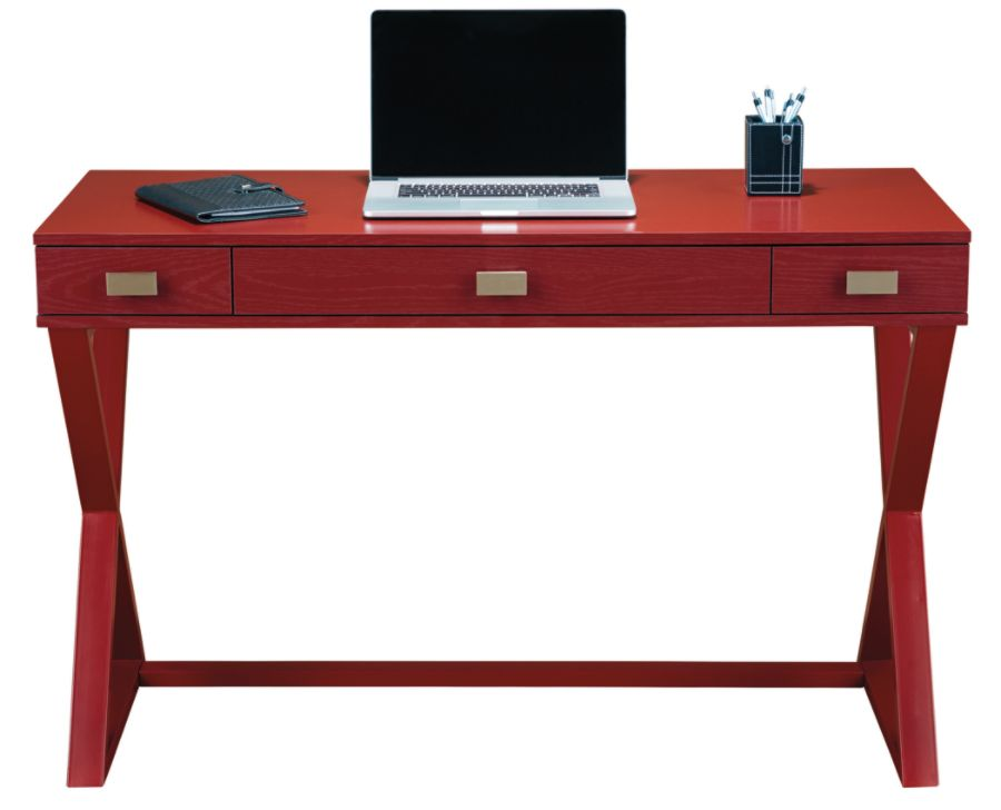 Red writing table