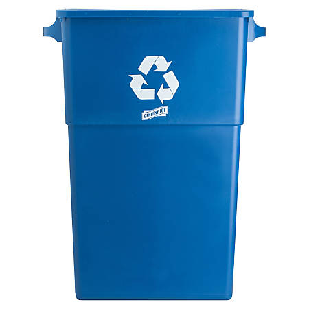 """Genuine Joe Recycling Container, 30""""H x 22 1/2""""W x 11""""D, Blue"""