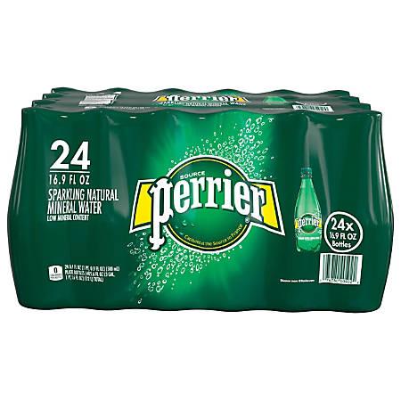 Perrier Sparkling Natural Mineral Water, 16.9 Oz, Case Of 24 Bottles