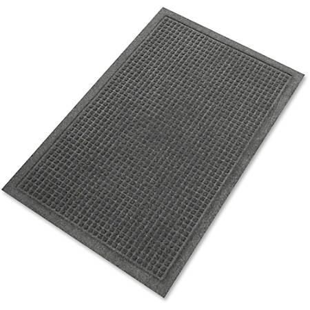 Genuine Joe EcoGuard Eternity Indoor Floor Mat, 2' x 3', Charcoal Gray