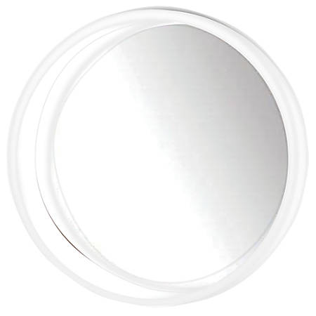 "PTM Images Framed Mirror, Round Wall, 24""H x 24""W, White"
