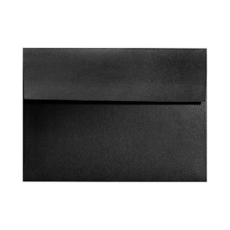 """LUX Invitation Envelopes With Moisture Closure, A1, 3 5/8"""" x 5 1/8"""", Black Satin, Pack Of 50"""