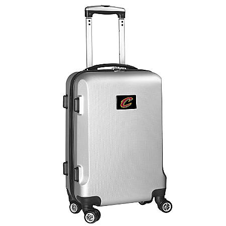 "Denco 2-In-1 Hard Case Rolling Carry-On Luggage, 21""H x 13""W x 9""D, Cleveland Cavaliers, Silver"