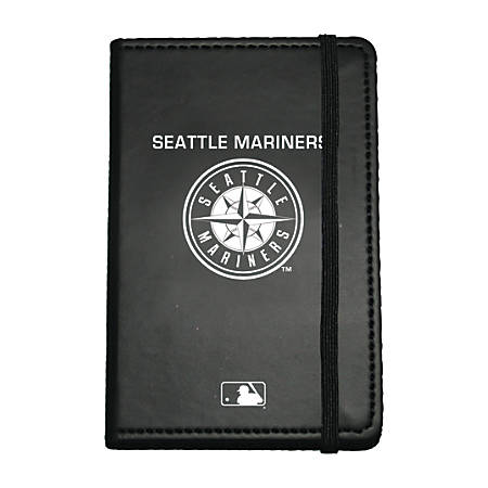 """Markings by C.R. Gibson® Leatherette Journal, 3 5/8"""" x 5 5/8"""", Seattle Mariners"""