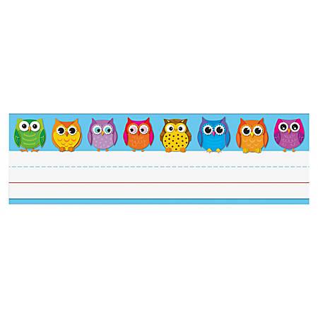 "Carson-Dellosa Desk Nameplates, 9 1/2"" x 3"", Owls, Pack Of 36"
