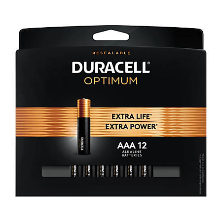 Duracell Optimum AAA Batteries, Pack of 12